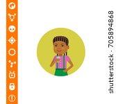 girl with glass | Shutterstock .eps vector #705894868