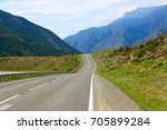 road to the mountains. mountain ... | Shutterstock . vector #705899284
