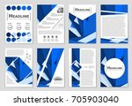 abstract vector layout... | Shutterstock .eps vector #705903040