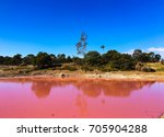 Pink Lake In Australia And The...