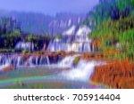 dramatic blurred mountain... | Shutterstock . vector #705914404