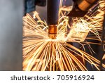 motion welding robots in a car... | Shutterstock . vector #705916924