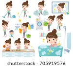 a set of women related to... | Shutterstock .eps vector #705919576