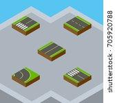 isometric road set of single...   Shutterstock .eps vector #705920788