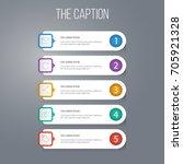 outline marketing set of letter ...   Shutterstock .eps vector #705921328