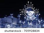 industry 4.0 concept image.... | Shutterstock . vector #705928834