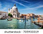 beautiful venice city at... | Shutterstock . vector #705933319