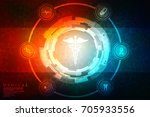 2d illustration health care and ... | Shutterstock . vector #705933556