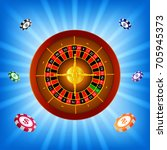 shining roulette light frame... | Shutterstock . vector #705945373