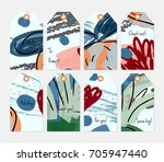 hand drawn creative tags.... | Shutterstock .eps vector #705947440