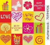 seamless valentine day heart... | Shutterstock .eps vector #70594936