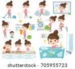 a set of women related to... | Shutterstock .eps vector #705955723