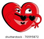 vector illustration. heart | Shutterstock .eps vector #70595872