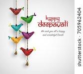 indian decor hanging bird for... | Shutterstock .eps vector #705962404