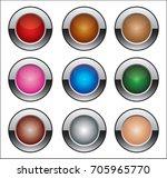 vector buttons | Shutterstock .eps vector #705965770