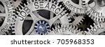 macro photo of tooth wheel... | Shutterstock . vector #705968353