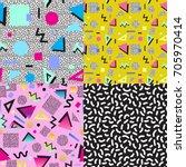 set of 4 seamless vector... | Shutterstock .eps vector #705970414