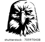 angry eagle. digital drawing | Shutterstock .eps vector #705970438