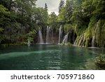 plitvice lakes national park ... | Shutterstock . vector #705971860