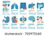 medical infographics  medical... | Shutterstock .eps vector #705975160
