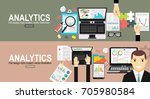 analytics information and... | Shutterstock .eps vector #705980584