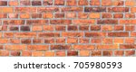 red and brown brick wall... | Shutterstock . vector #705980593