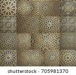 islamic pattern . seamless... | Shutterstock .eps vector #705981370