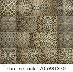 islamic pattern . seamless... | Shutterstock .eps vector #705981370