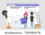 web design and development.... | Shutterstock .eps vector #705989578
