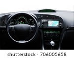 car interior view with steering ... | Shutterstock . vector #706005658