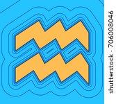 aquarius sign illustration.... | Shutterstock .eps vector #706008046