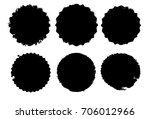grunge post stamps collection ...   Shutterstock .eps vector #706012966