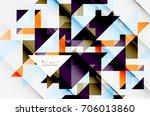 triangle pattern design... | Shutterstock .eps vector #706013860