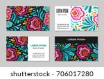 embroidery style flower vintage ... | Shutterstock .eps vector #706017280