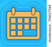 calendar sign illustration.... | Shutterstock .eps vector #706017568