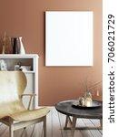 mock up poster in elegant retro ... | Shutterstock . vector #706021729