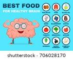 best food for strong brain.... | Shutterstock . vector #706028170