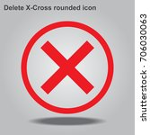 delete x cross rounded icon is... | Shutterstock .eps vector #706030063