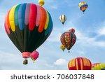 hot air balloons | Shutterstock . vector #706037848