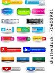 huge set of bright web buttons   Shutterstock .eps vector #70603981