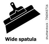 wide spatula icon. simple... | Shutterstock .eps vector #706043716