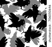 seamless pattern background... | Shutterstock .eps vector #706050646