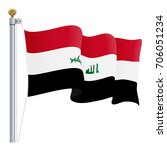 waving iraq flag isolated on a... | Shutterstock .eps vector #706051234