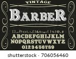 font typeface old style named... | Shutterstock .eps vector #706056460