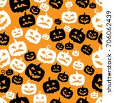 halloween pumpkins abstract... | Shutterstock .eps vector #706062439