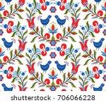 scandinavian seamless pattern... | Shutterstock . vector #706066228