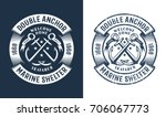 round nautical logo  tattoo... | Shutterstock .eps vector #706067773