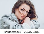 portrait of beautiful young... | Shutterstock . vector #706072303