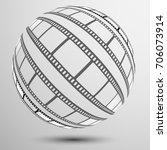 set of film frame  ...   Shutterstock . vector #706073914