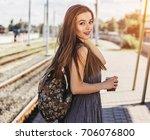 gorgeous girl ready for new... | Shutterstock . vector #706076800